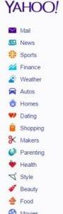 Yahoo sidebar