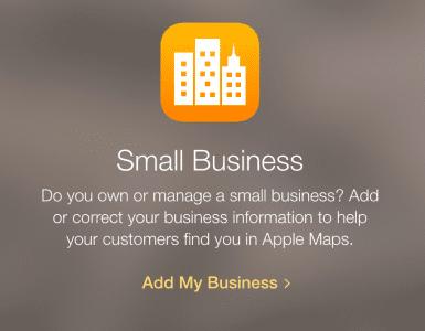 Apple Maps add business