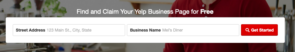 Yelp search your business