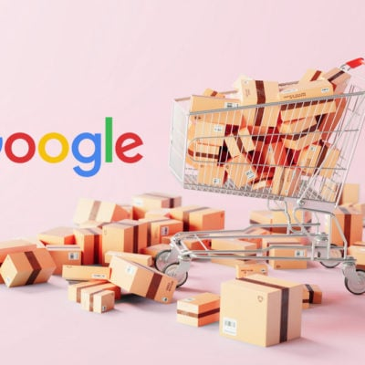 Google and a pile of boxes