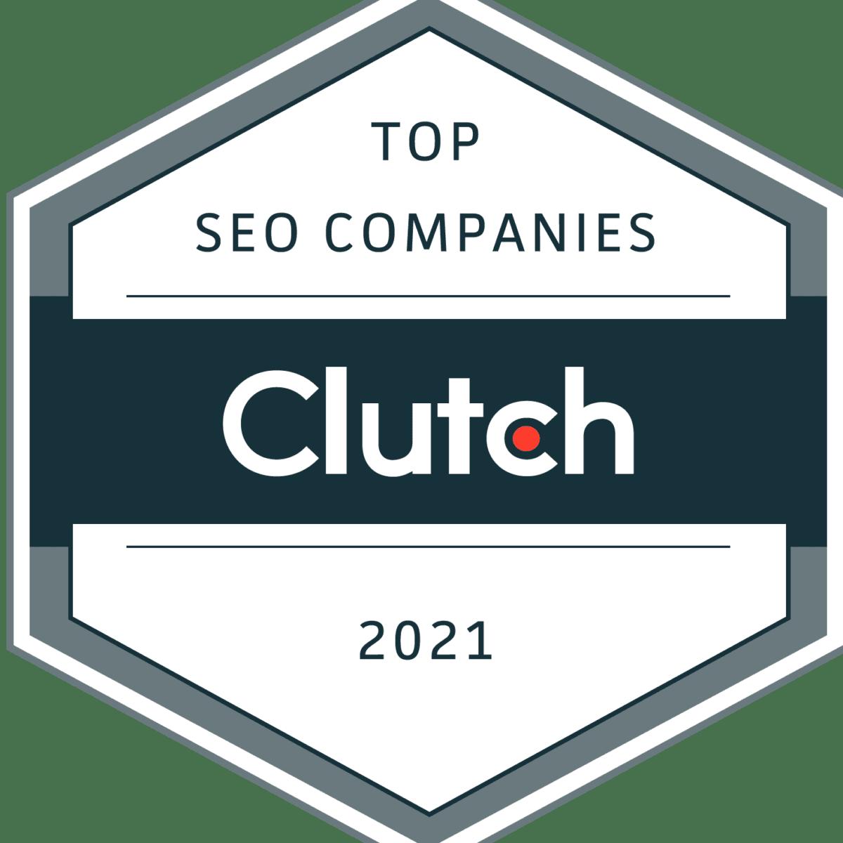 Clutch 2021 Best SEO Company Award