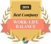 Boostability wins Comparably Best Work-Life Balance Award badge