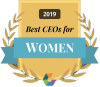 Boostability Comparably Award Best CEO for Women badge
