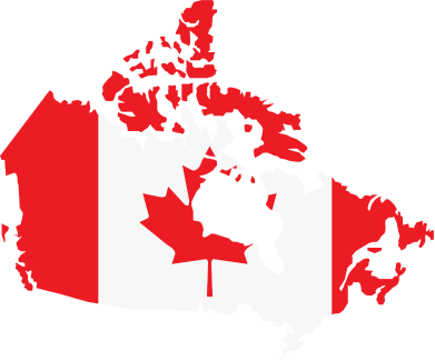 canada country map with flag