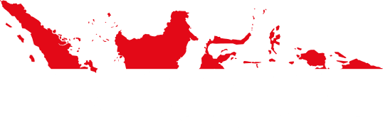 indonesia country map with flag