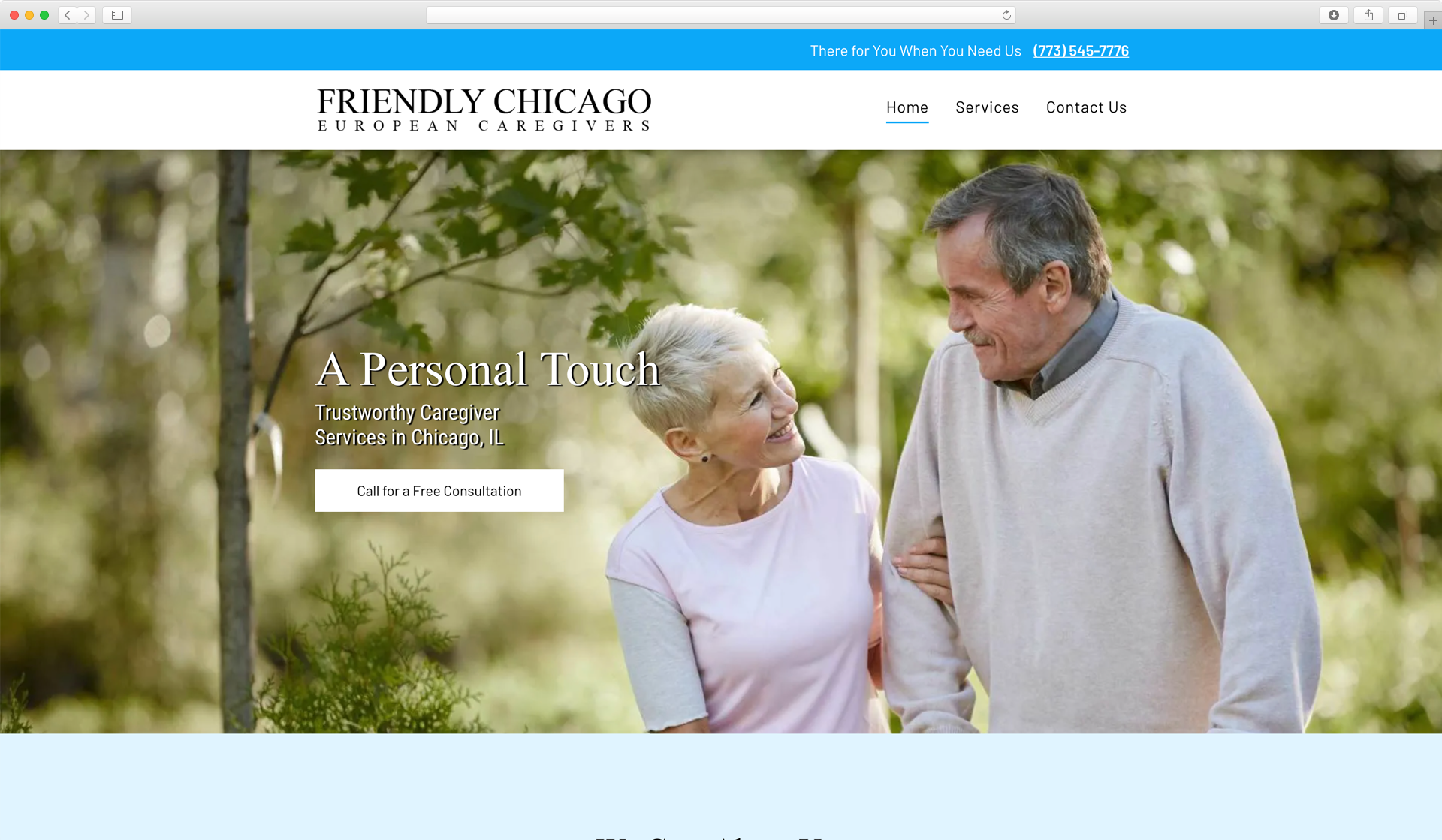 Boostability website gallery Friendly Chicago Caregivers