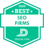 Digital.com Awards Boostability Best SEO Firms badge