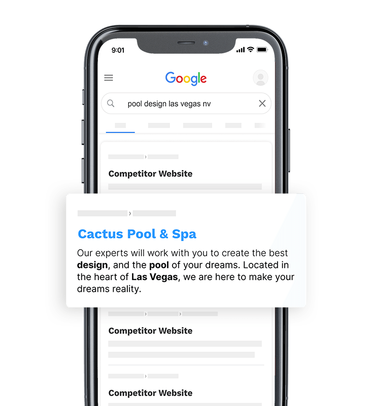 image of a mobile google search